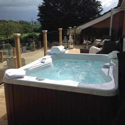 Spas Hot Tubs in our Garden Spa range