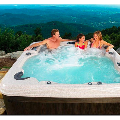 Spas Hot Tubs in our Island Spa range