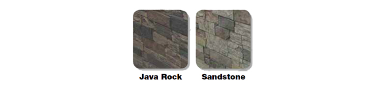 Rock Cabinet Colours for our Island Spas, Hot Tubs & Jacuzzi