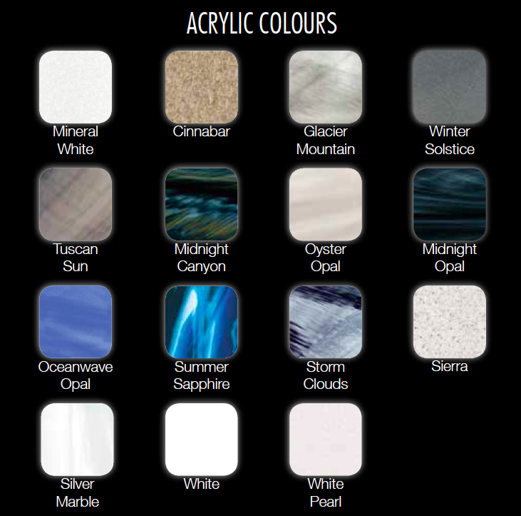 Acrylic Shell Options for our Platinum Elite Spas, Hot Tubs & Jacuzzi